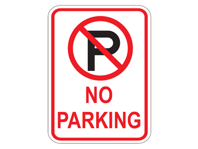 Picture of Cross Out 'P' No Parking