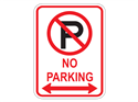 Picture of Cross Out 'P' No Parking w/Arrows