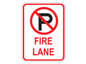 Picture of Cross Out 'P' Fire Lane