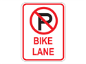 Picture of Cross Out 'P' Bike Lane