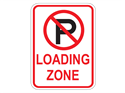 Picture of Cross Out 'P' Loading Zone