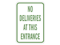Picture of No Deliveries At This Entrance