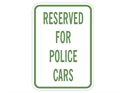 Picture of Reserved For Police Cars