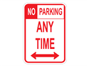 Picture of No Parking Any Time w/Arrows (Highlighted NO)