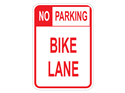 Picture of No Parking Bike Lane (Highlighted NO)