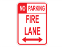 Picture of No Parking Fire Lane (Highlighted NO)