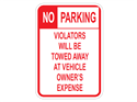 Picture of No Parking Violators Will Be Towed Away (Highlighted NO)