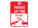 Picture of No Parking Any Time Tow-Away Zone w/Picture