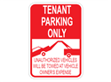 Picture of Tenant Parking Only Unauthorized Vehicles Will Be Towed