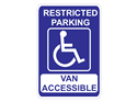 Picture of Restricted Parking Van Accessible (Highlighted)