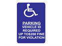 Picture of Parking Vehicle ID Required Up To $200 Fine For Violation