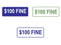 Picture of $100 Fine-Text