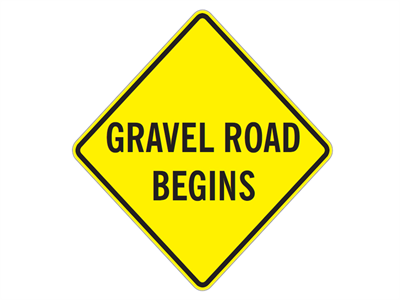 Picture of Gravel Road Begins