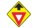 Picture of Yield Ahead w/Picture & Up Arrow
