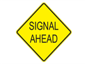 Picture of Signal Ahead-Text
