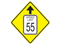 Picture of Speed Limit ?? MPH w/ Arrow