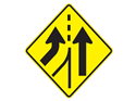 Picture of Merging Traffic From Left Ahead