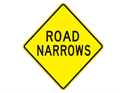 Picture of Road Narrows-Text