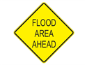 Picture of Flood Area Ahead-Text