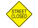 Picture of Street Closed-Text