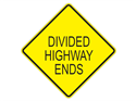 Picture of Divided Highway Ends-Text