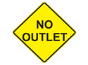 Picture of No Outlet -Text
