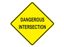 Picture of Dangerous Intersection -Text