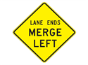 Picture of Lane Ends Merge Left -Text