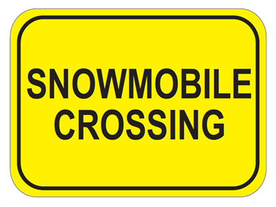 Picture of Snowmobile Crossing-Text