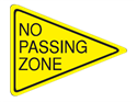 Picture of No Passing Zone-Text