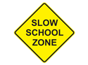 Picture of Slow School Zone -Text