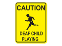Picture of Caution Deaf Child Playing