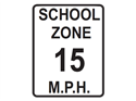 Picture of School Zone 15 M.P.H.