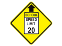 Picture of School Zone Speed Limit Ahead