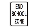 Picture of End School Zone