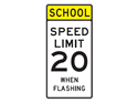 Picture of School Speed Limit 20 When Flashing