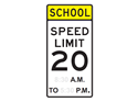 Picture of School Speed Limit 20 8:30 A.M. TO 5:30 P.M.