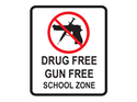 Picture of Drug Free Gun Free School Zone w/Picture