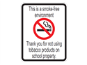 Picture of This Is A Smoke-Free Environment Thank You For Not Using w/Picture