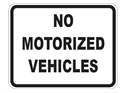 Picture of No Motorized Vehicles