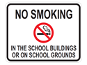 Picture of No Smoking In The School Building Or On School Grounds w/Picture