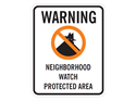 Picture of Warning Neighborhood Watch Protected Area w/No Circle & Shadowman