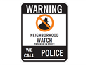 Picture of Warning Neighborhood Watch Program In Force w/No Circle & Shadowman
