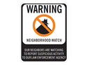 Picture of Warning Neighborhood Watch Our Neighbors Are w/No Circle & Shadowman