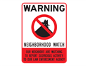 Picture of Warning Neighborhood Watch w/No Circle & Shadowman