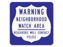 Picture of Warning Neighborhood Watch Area Neighbors Will Contact Police (Shield)