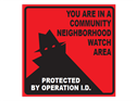 Picture of You Are In A Community Neighborhood Watch Area w/Shadowman