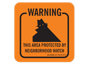 Picture of Warning This Area Protected By Neighborhood Watch w/Shadowman