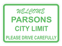 Picture of Welcome Parsons City Limit Please Drive Carefully