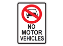 Picture of No Motor Vehicles w/Picture
